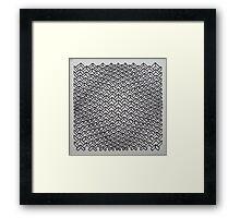Convex chevrons Framed Print