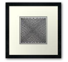 Concave chevrons Framed Print