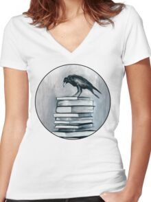 I Don't Read As Much As I'd Love To Anymore Women's Fitted V-Neck T-Shirt