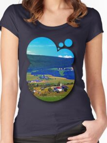 Some boring autumn scenery Women's Fitted Scoop T-Shirt