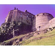 purple Edinburgh castle Photographic Print