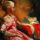 Waiting...oil painting original by andrassyp