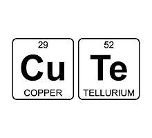 Cu Te - Cute - Periodic Table - Chemistry Photographic Print