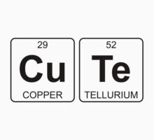 Cu Te - Cute - Periodic Table - Chemistry One Piece - Short Sleeve