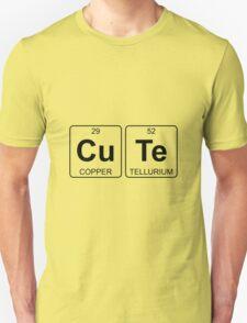 Cu Te - Cute - Periodic Table - Chemistry T-Shirt