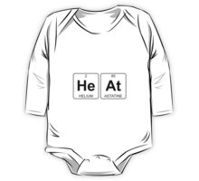 He At - Heat - Periodic Table - Chemistry One Piece - Long Sleeve