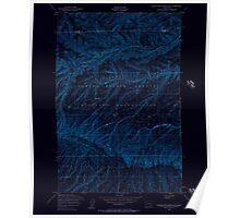 USGS Topo Map Washington State WA Black Rock Spring NE 240078 1953 24000 Inverted Poster