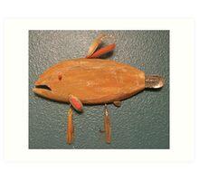 Key chain fish # 3 (SOLD) Art Print