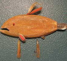 Key chain fish # 3 (SOLD) by Fred Weiler
