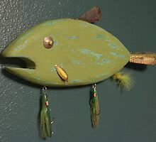 Key chain fish # 4 (SOLD) by Fred Weiler