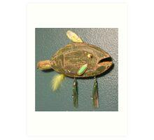 Key chain fish # 7 (SOLD) Art Print