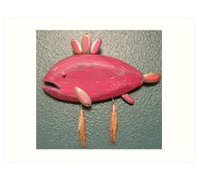 Key chain fish # 12 (SOLD) Art Print