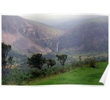 Aber Falls in the distance Poster