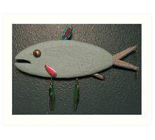 Key chain fish # 13 (SOLD) Art Print