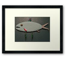 Key chain fish # 13 (SOLD) Framed Print