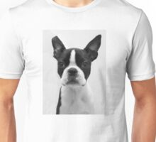 Portrait of Meryl the Boston Terrier Unisex T-Shirt