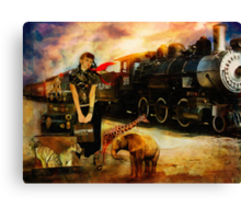 Her Traveling Menagerie Canvas Print