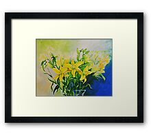 Dorothy's Yellow Lily  Framed Print