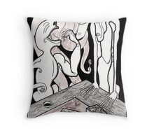 leftovers ink technical pen marker Throw Pillow