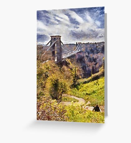 Clifton Suspension Brige, Bristol, UK Greeting Card