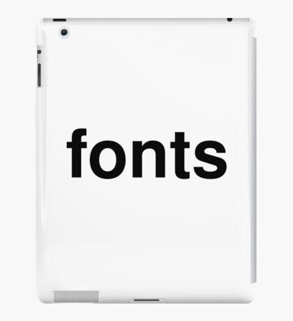 fonts iPad Case/Skin