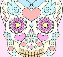 Calavera / sugar skull by NetherworldHero