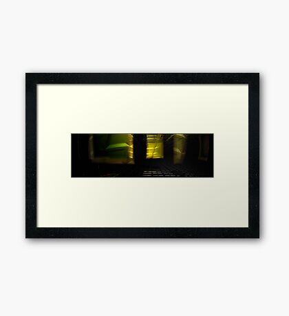 Light Bending Framed Print