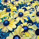 Black-Eyed Susans by marksatchwillart