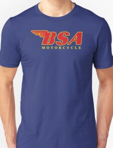 New BSA MOTORCYCLE Classic Logo Racing Men's Black T-Shirt T-Shirt