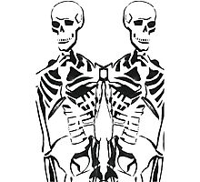 Double Skeleton  Photographic Print