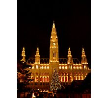 Vienna at Christmas time Photographic Print