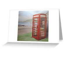 Phone Box at Diabaig Greeting Card