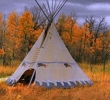 Plains Cree Teepee by Larry Trupp