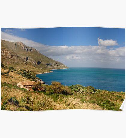 Riserva Naturale dello Zingaro, Sicily Poster