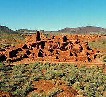 Wupatki Pueblo Dwelling by David  Hughes