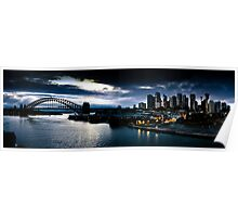 Sydney Harbour Sunrise Panorama Poster
