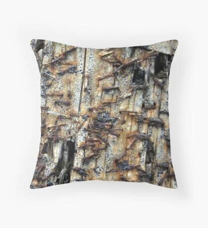 Old and used Throw Pillow
