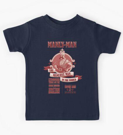 Manly-Man Kids Tee