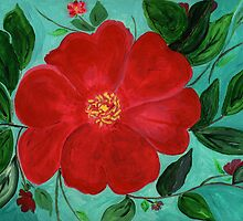 Red & Green a Christmas Flower by Anne Gitto