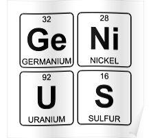 Ge Ni U S - Genius - Periodic Table - Chemistry Poster