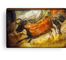 Paleolithic cave painting, Lascaux Cave, France.  Canvas Print
