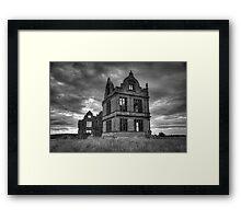 Moreton Corbet in Black and White HDR Framed Print