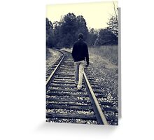 Right on Track Greeting Card
