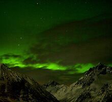 Mountain Peaks In Emerald Green by geiroye