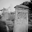 Graveyard in monochrome by Steve Churchill