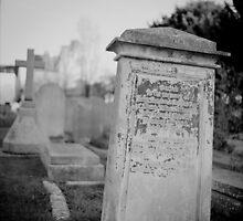 Graveyard in monochrome by Steve Churchill