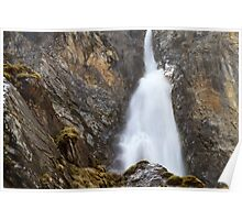 Alpine Waterfall Poster