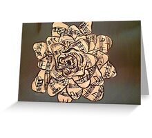 rose and notes Greeting Card