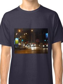 Abstract colored lights from moving vehicles Classic T-Shirt
