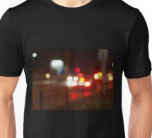 Blurred image of light from the glare of headlights Unisex T-Shirt